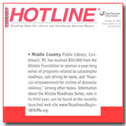 Library Hotline Article